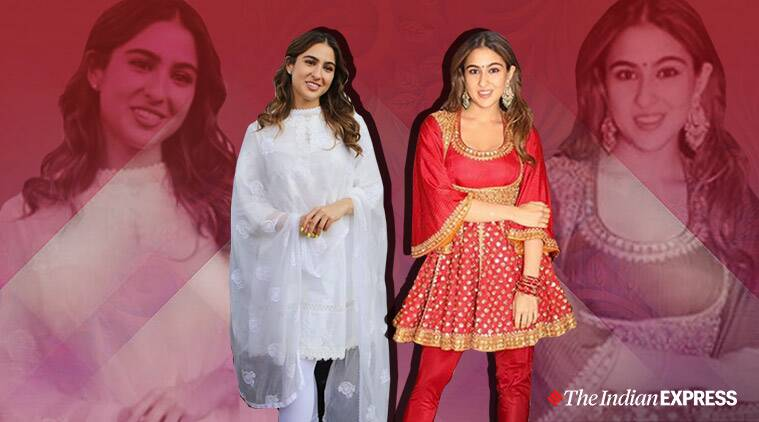 Sara Ali Khan, Sara Ali Khan pishwas suit, Sara Ali Khan pakistani pishwas suit, traditional pishwas suit, indian express news