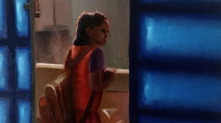 Chennai, Nude art, Figurative painting, Ramya Sadhasivam, Indian artist, painting, oil painting, composition, lighting, Indian painting artsit, Nude Painting, Indian Express News, Chennai News, Tamil Nadu