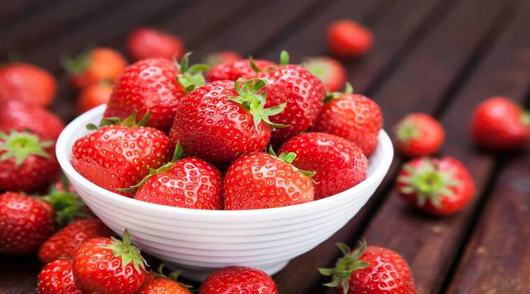 strawberries, benefits of strawberries, winter fruit, health, indian express, indian express news