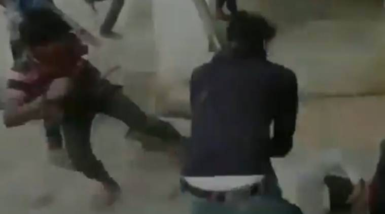 Video: UP teacher thrashed after asking students not to misbehave with girls