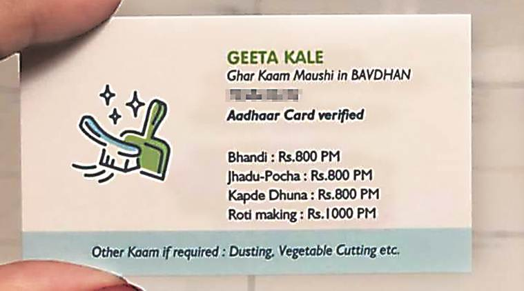 Visiting card with chore charges makes Ghar Kaam Maushi online sensation