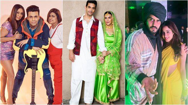 Karan Johar, Gauri Khan, Neha Dhupia and Shweta Bachchan get filmy at Bollywood themed party