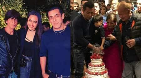 shah rukh khan at salman birthday