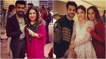 Ram Charan, Farah Khan and others attend Sania Mirza's sister Anam's wedding reception