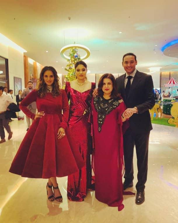 farah khan with sania mirza photos