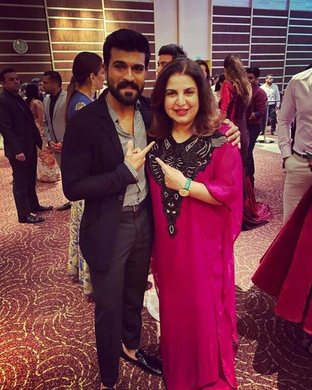 farah khan with ram charan photos
