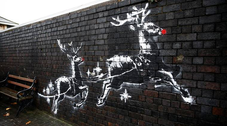 New mural by Banksy in Birmingham on homeless