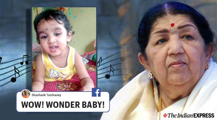 Toddler singing Lag Jaa Gale, Lag Jaa Gale, Lata Mangeshkar, Toddler singing Lata Mangeshkar song, Trending, Indian Express news