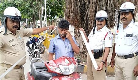 Bhopal traffic police, Bhopal bike riders without helmet, Bhopal bike riders write essay, Bhopal news, city news, Indian Express