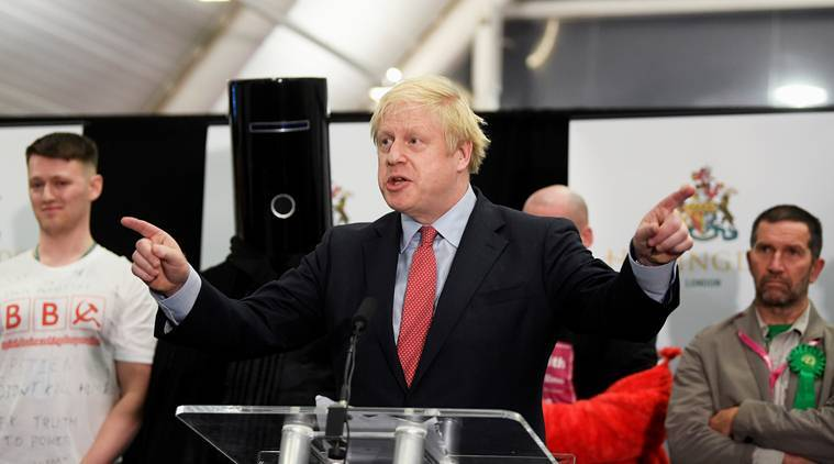 UK elections results, UK brexit election Boris JOhnson, Boris Johnson UK brexit, Boris Johnson Labour party, world news indian express