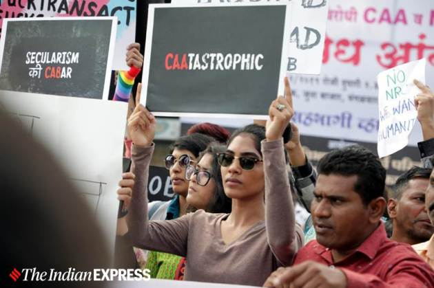 Citizenship Amendment Act, CAA protests, Citizenship protests, Citizenship Act protests, CAA, CAB, CAB protests, CAA protests Mumbai, Mumbai CAA protests, CAA support rally, Mumbai CAA support rally, India news, Indian Express