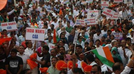 Citizenship Amendment Act, CAA protests, Citizenship protests, Citizenship Act protests, CAA, CAB, CAB protests, CAA protests Mumbai, Mumbai CAA protests, CAA support rally, Mumbai CAA support rally, India news, Indian Express
