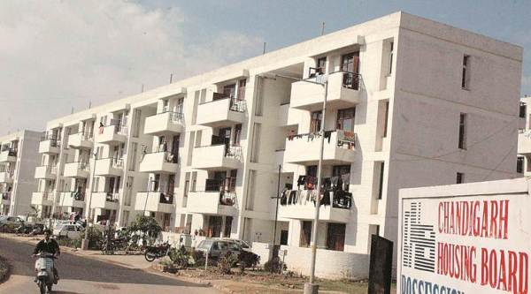 CHB held flash rally, CHB residents rally, CHB residents demand one time settlement, Chandigarh Housing Board Residents, chandigarh news, indian express news