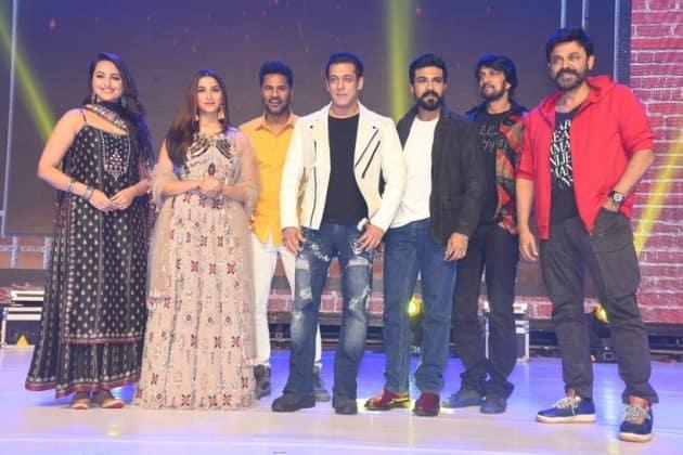 Salman Khan, Sonakshi Sinha, Prabhudheva, Sudeep, Ram Charan, Venkatesh, Munna Badnaam, Salman, dabangg 3, dabangg 3 PHOTOS, dabangg 3 salman khan, salman khan hyderabad, dabangg 3 promotions, dabangg 3 release