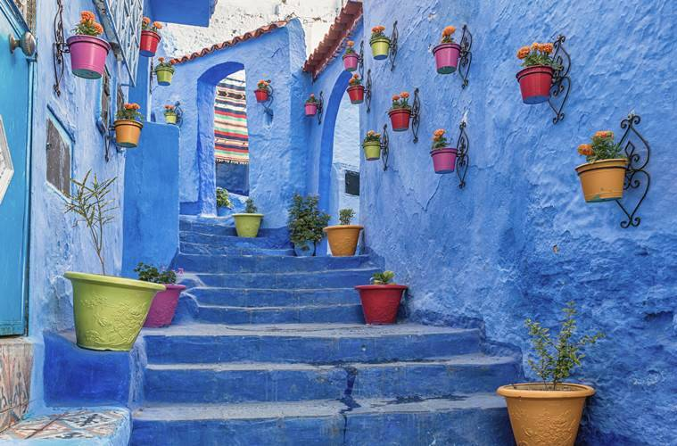 winter blues, places to see in winter, Morocco, Indian Express news