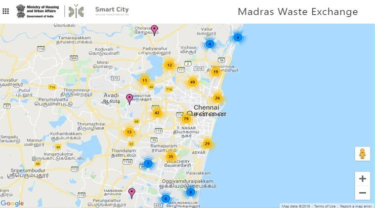 Madras Waste Exchange, Chennai Garbage, Smart City Mission