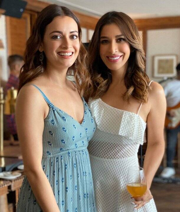 dia mirza with sophie choudry