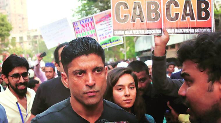 Farhan akhtar, Farhan Akhtar FIR, Farhan akhtar tweet, Farhan Akhtar sedition, CAA protest, hyderabad protests, hyderabad city news, Indian Express