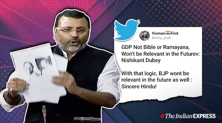 GDP, Nishikant Dubey, BJP, Jharkhand, Godda, Economics, Trending, Indian Express news