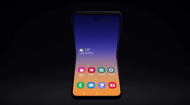 Samsung clamshell foldable phone