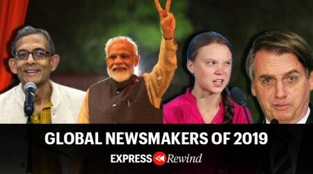 newsmakers of 2019, express rewind, pm narendra modi, abhijit banerjee, carrie lam, hong kong protests, boris johnson, rohit sharma, indian express