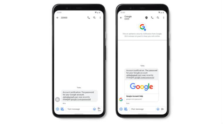 Google brings new verified sms and real time spam protection to rcs
