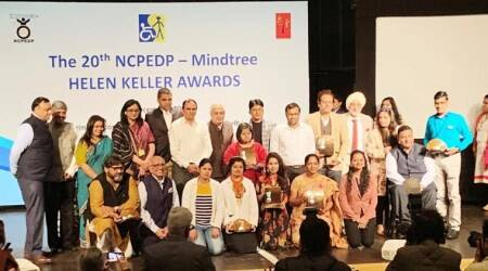 National Centre for Promotion of Employment for Disabled People, NCPEDP, indianexpress.com, indianexpress, NCPEDP-Mindtree Helen Keller Awards 2019, Rajiv Kumar NITI Aayog, disability issues, International Day of Persons with Disabilities, PwDs, persons with disabilities,
