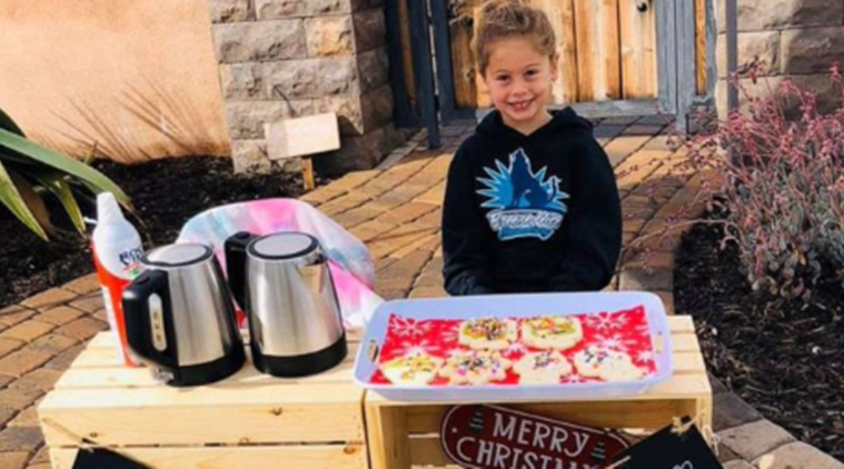 Girl sells hot cocoa to pay of fellow students lunch debts, California, Trending, Indian Express news