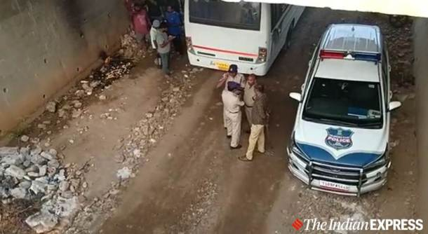 Hyderabad rape-murder case accused shot dead by police (2)