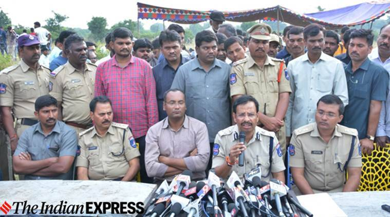 Hyderabad rape case, Hyderabad rape case encounter, Hyderabad rape case accused encounter, Telangand police VC Sajjanar, indian express news