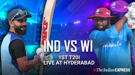 India vs West Indies 1st T20I Live Updates