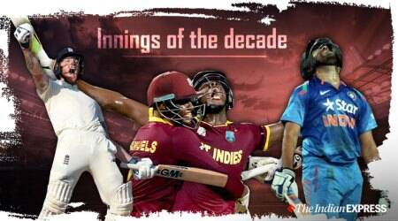 ODI innings of the decade, T20I innings of the decade, Test innings of the decade, AB de Villiers 149, Rohit Sharma 264, Kusal Perera 153 Durban, Ben Stokes 135 Headingley, Virat Kohli 85, Ben Stokes World Cup final, Gautam Gambhir World Cup final, Marlon Samuels World Cup final, Carlos Brathwaite World Cup final