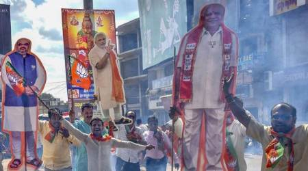 Karnataka bypolls results,bjp karnataka bypoll, B S Yediyurappa, Siddaramaiah, Karnataka chunavana, Karnataka election commission, election commission of india, indian express news latest, bangalore news, bengaluru news, BJP, Congress, JD(S)