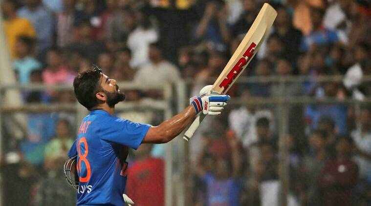 Watch: Virat Kohli blows kiss to stands after carnage on marriage anniversary