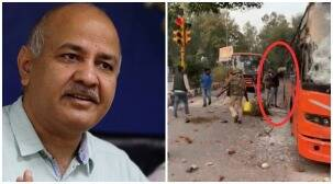 Manish Sisodia suggests bus set on fire under police watch, cops say they were putting out flames