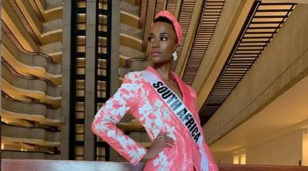 Zozibini Tunzi, Zozibini Tunzi south africa, Zozibini Tunzi miss universe 2019, miss universe 2019 south africa, Zozibini Tunzi, who is Zozibini Tunzi, indianexpress.com, indianexpress, miss south africa Zozibini Tunzi, Zozibini Tunzi PR, Zozibini Tunzi twitter, Zozibini Tunzi black, Zozibini Tunzi facebook, Zozibini Tunzi news,