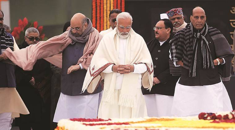 PM Modi launches Atal Bhujal Scheme, Rohtang Pass renamed after Vajpayee, Rohtang pas new name, Union cabinet water scheme, Prime Minister Narendra Modi, Atal Bihari Vajpayee's birthday, India news, indian express