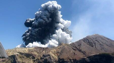 New Zealand volcano, New Zealand volcanic eruption, New Zealand, New Zealand volcano eruption, World news, Indian Express