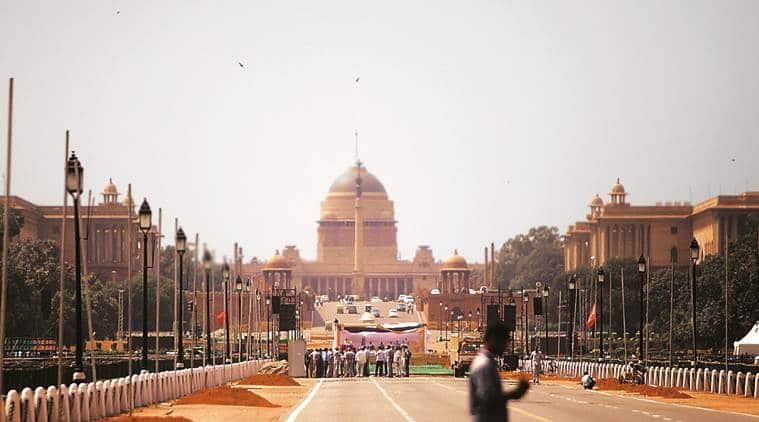 New New Delhi: Triangular Parliament with spires, Rashtrapati Bhavan biodiversity park