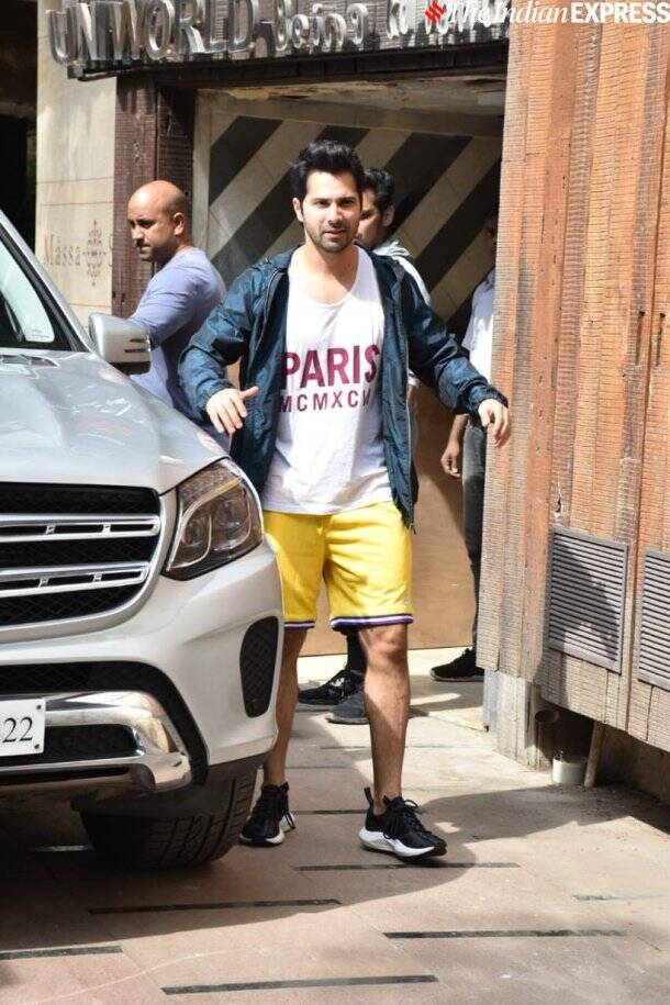varun dhawan at gym