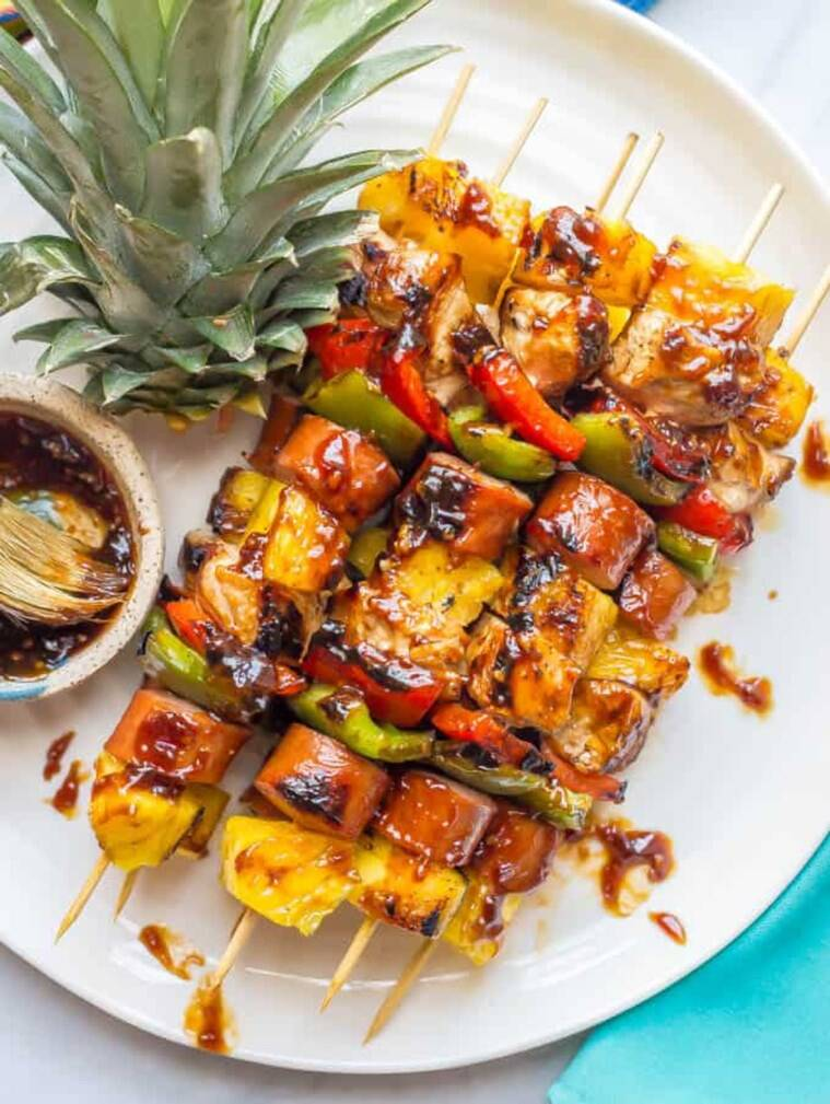 new year special recipes, new year party ideas, new year 2020 recipes, Bharwan Khumb, Jalapeno Potato, Quick and Easy Pineapple Chicken Bites, Carrot and Beetroot Pancake with Berries, indianexpress.com, indianexpress,