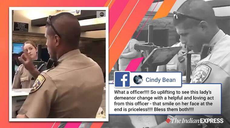 Officer helps hearing-impaired woman, ASL, American Sign Language, Trending, Indian express