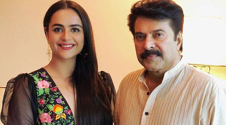 Mamangam actor Prachi Tehlan with Mammootty