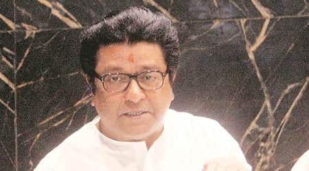 Raj Thackeray, MNS party flag, all-saffron flag, Maharashtra Navnirman Sena, mumbai news, maharashtra news, indian express news
