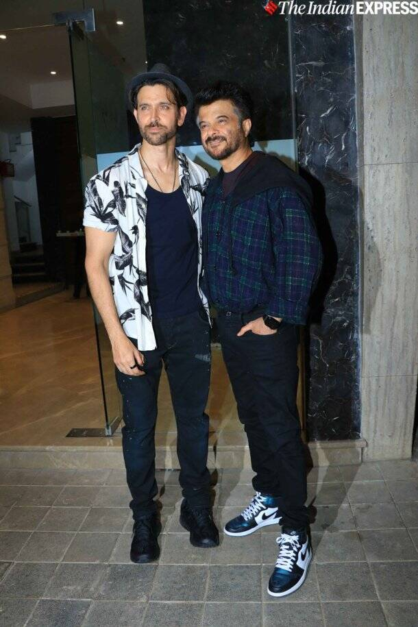 anil kapoor hrithik roshan at rohini iyer party