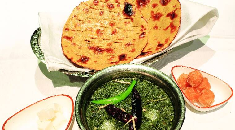 sarson ka saag and makke ki roti, north indian food, north indian food platter, sundayeye, eye 2019, grandma's recipes, mustard greens, indian food, indian food specialities, indianexpress,