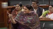 Row in LS over Cong members' 'threatening position' towards Irani, BJP; others seek apology