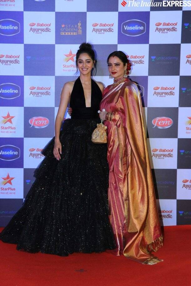 ananya panday with rekha