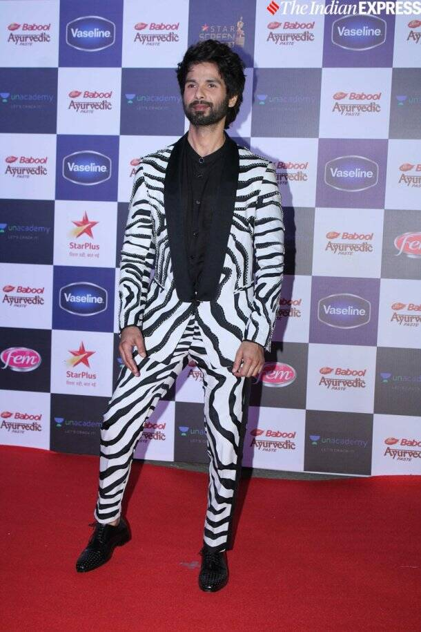 shahid kapoor at Star Screen Awards 2019
