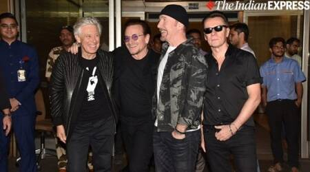 U2 arrives in Mumbai for their maiden India concert